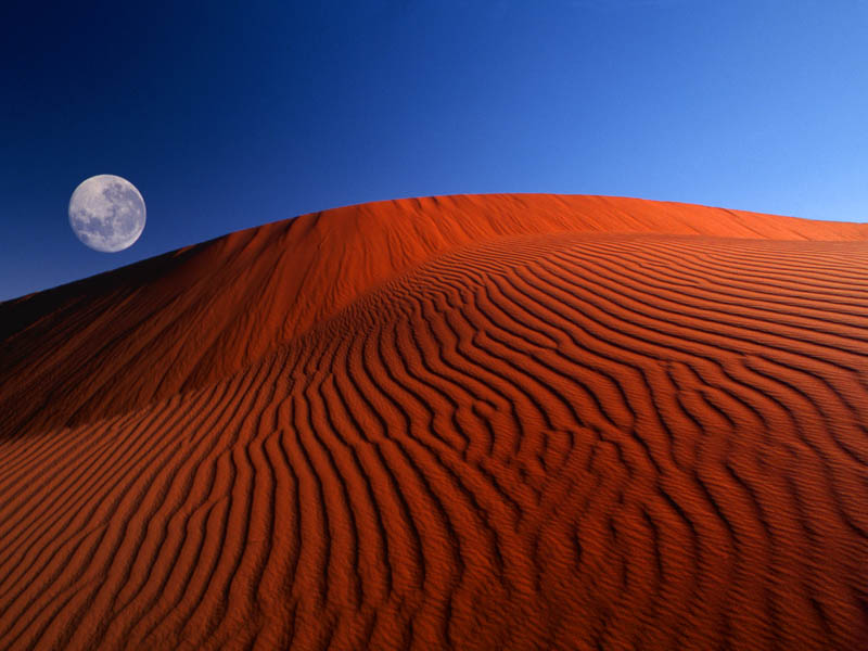 Red moon desert
